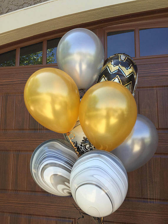 Balloons Centerpiece Bouquet Bunch Set 12