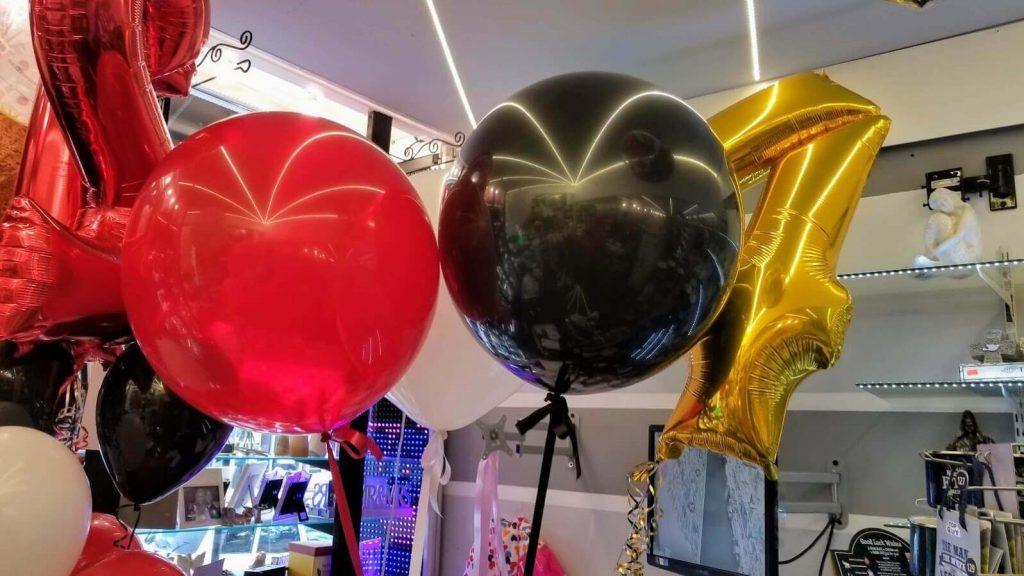 red black and white jumbo big round balloons