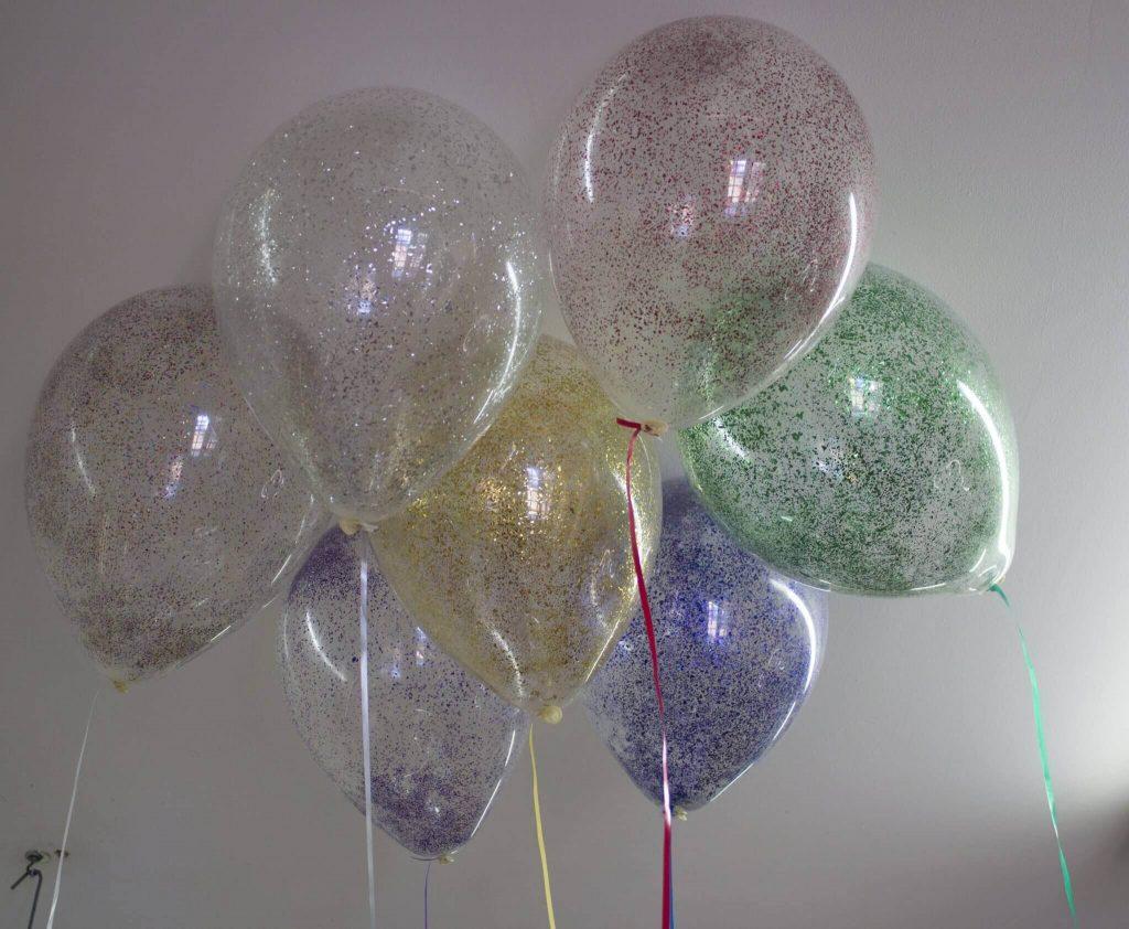 Tulle Confetti Glitter Sparkle Balloons 20
