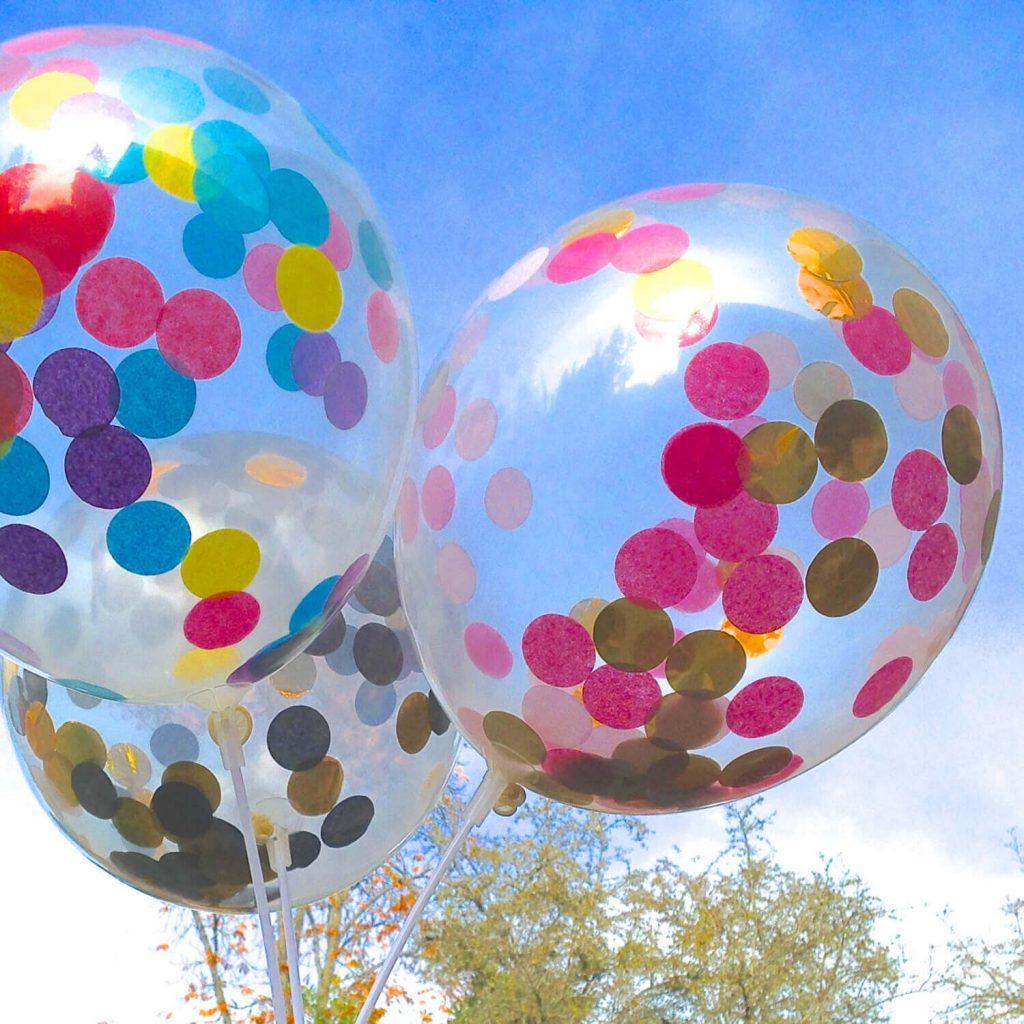 Tulle Confetti Glitter Sparkle Balloons 6