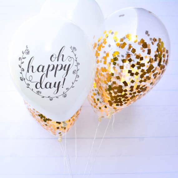 Tulle Confetti Glitter Sparkle Balloons 7