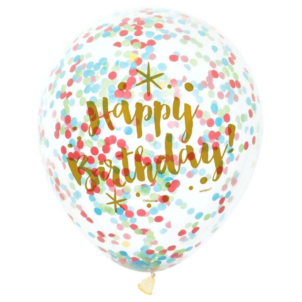 Tulle Confetti Glitter Sparkle Balloons 22