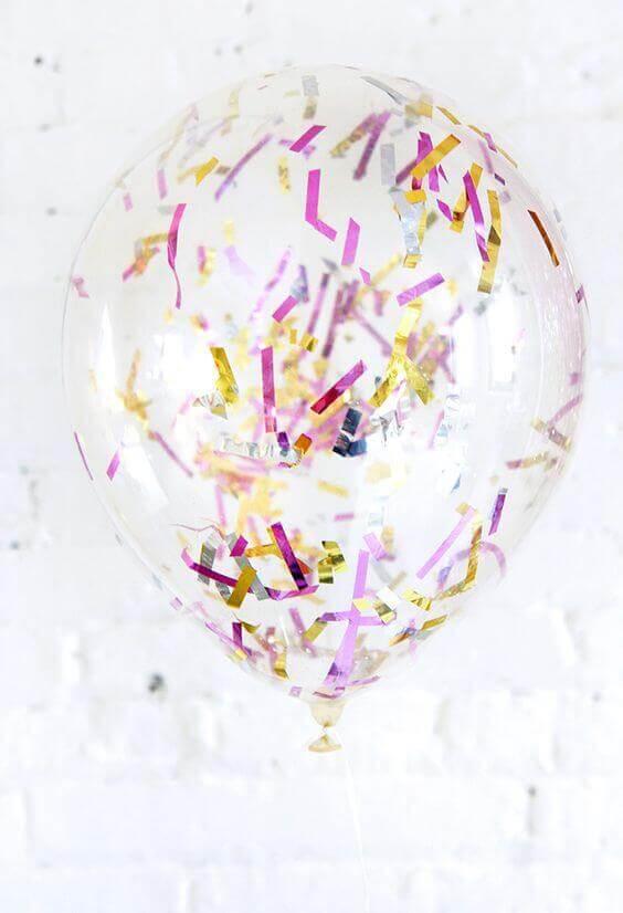 Tulle Confetti Glitter Sparkle Balloons 10
