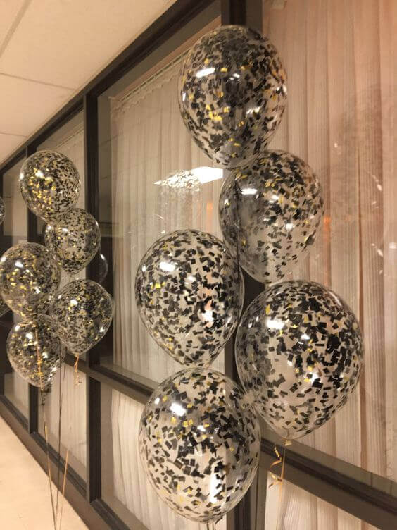 Tulle Confetti Glitter Sparkle Balloons 24