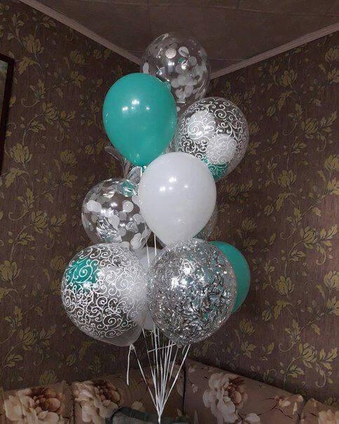Tulle Confetti Glitter Sparkle Balloons 26