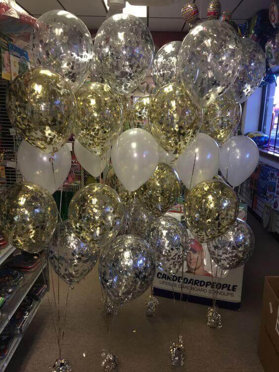 Tulle Confetti Glitter Sparkle Balloons 12