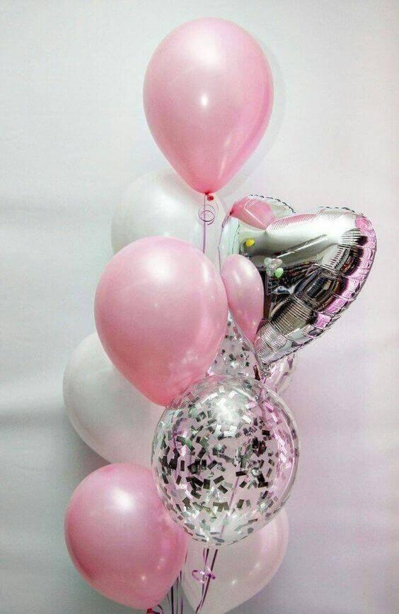 Balloons Centerpiece Bouquet Bunch Set 68