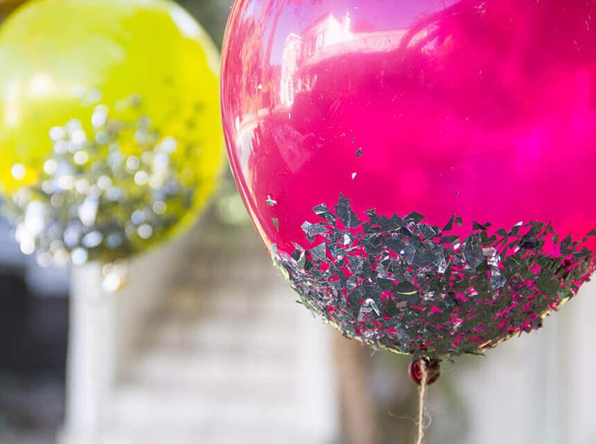 Tulle Confetti Glitter Sparkle Balloons 4