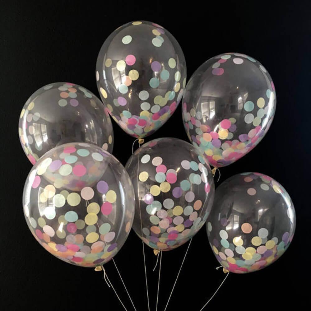 color confetti balloons
