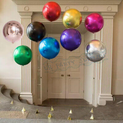 colors orbz helium balloons floor piece on balloon weight for the christening