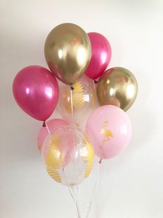Balloons Centerpiece Bouquet Bunch Set 19
