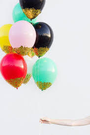 glitter balloons loos in mix basic colors