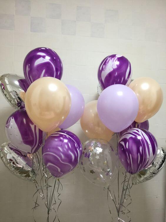 Balloons Centerpiece Bouquet Bunch Set 23