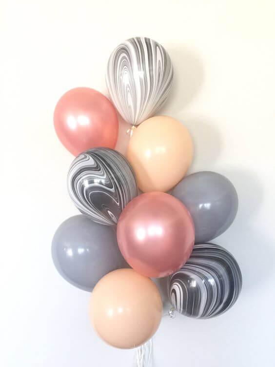 Balloons Centerpiece Bouquet Bunch Set 25
