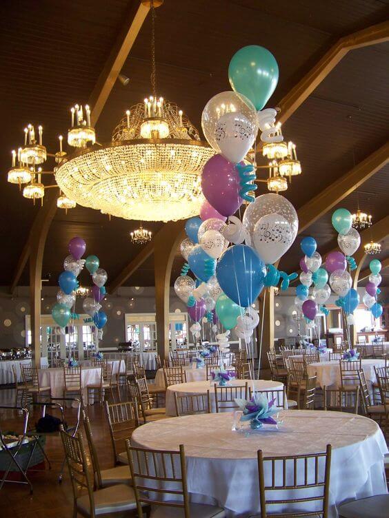 Balloons Centerpiece Bouquet Bunch Set 27