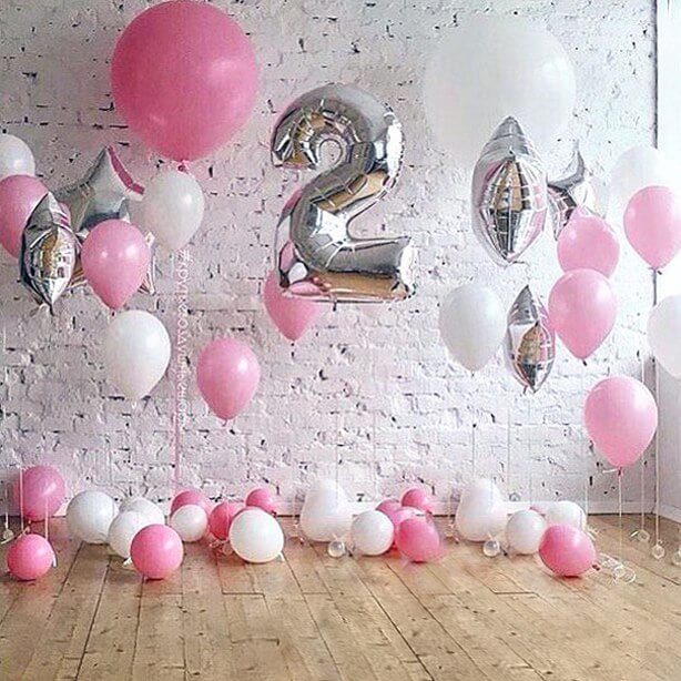 2nd birthday balloons for girl