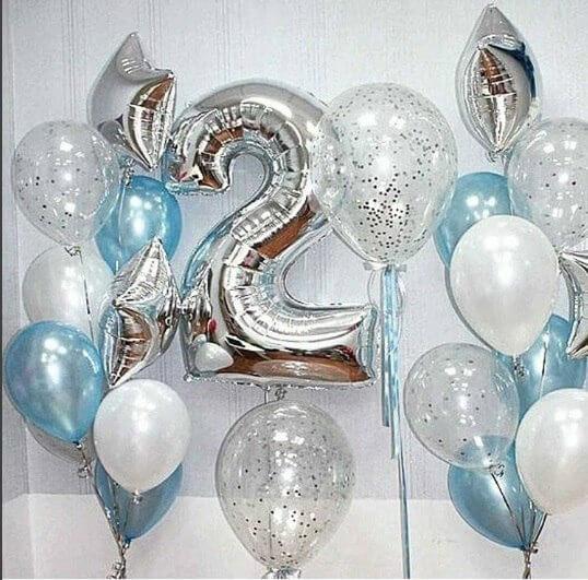 2nd birthday balloons for boy