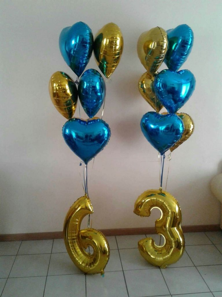 63rd birthday or anniversary balloons floor centerpieces