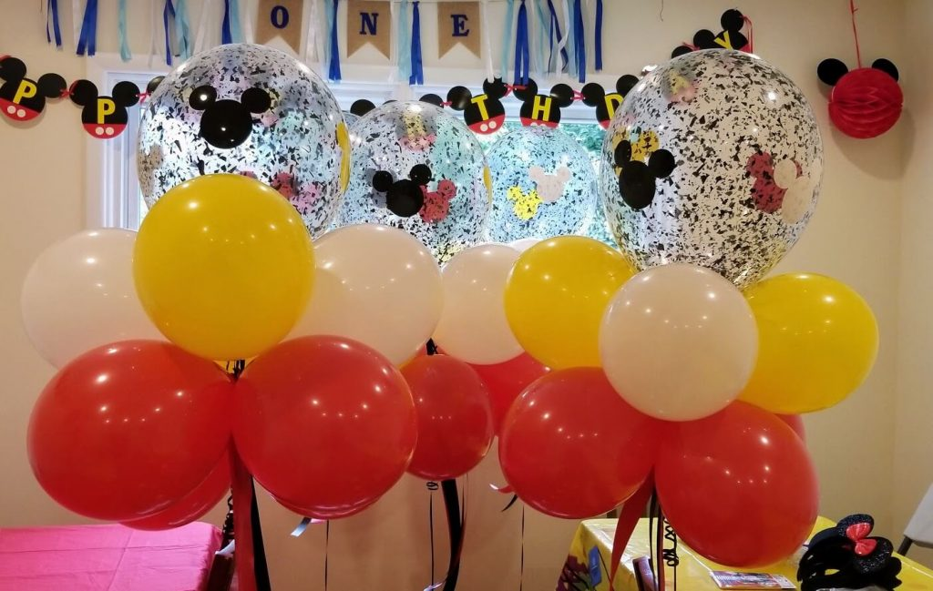 mickey birthday party balloons
