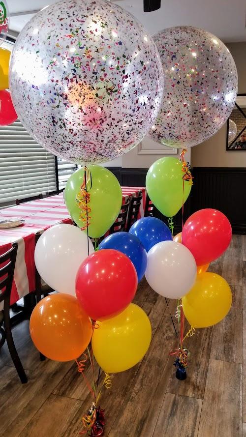 circus theme balloons big round confetti balloon 
