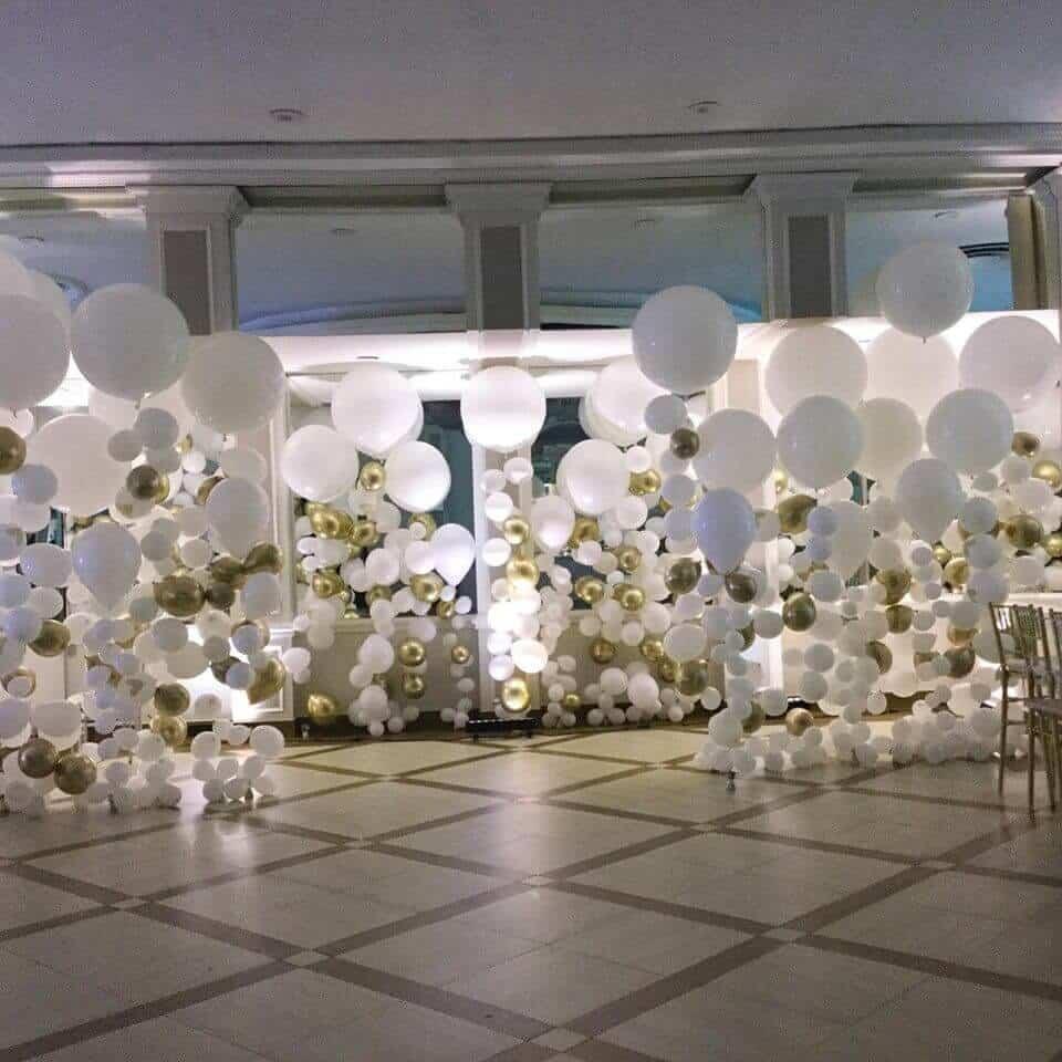 balloons columns clear balloons big balloons