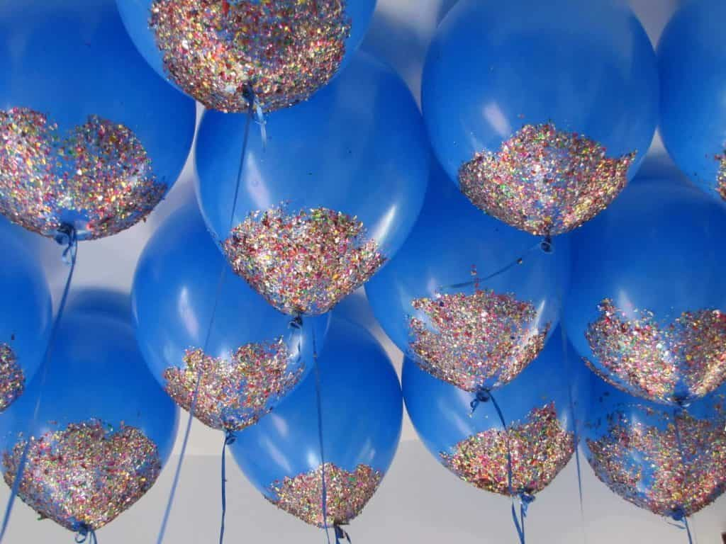 glitter baby shower balloons