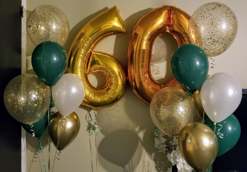 Gold Number Balloons 8
