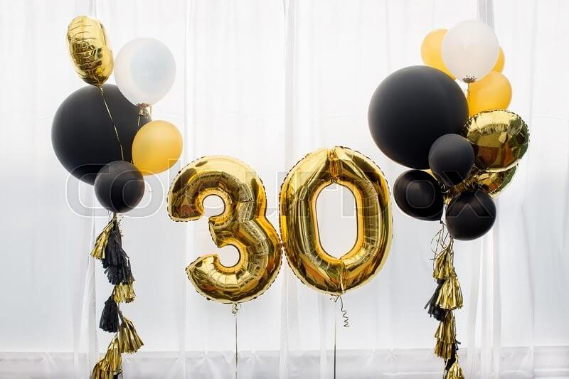 Gold Number Balloons 2