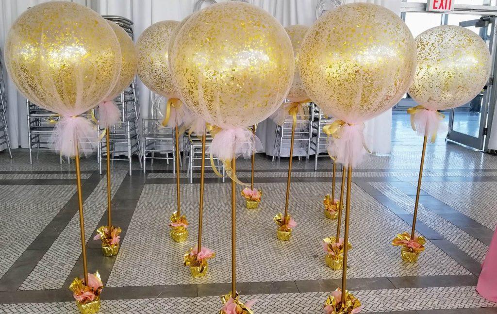 Confetti Chrome Glitter Balloons 2