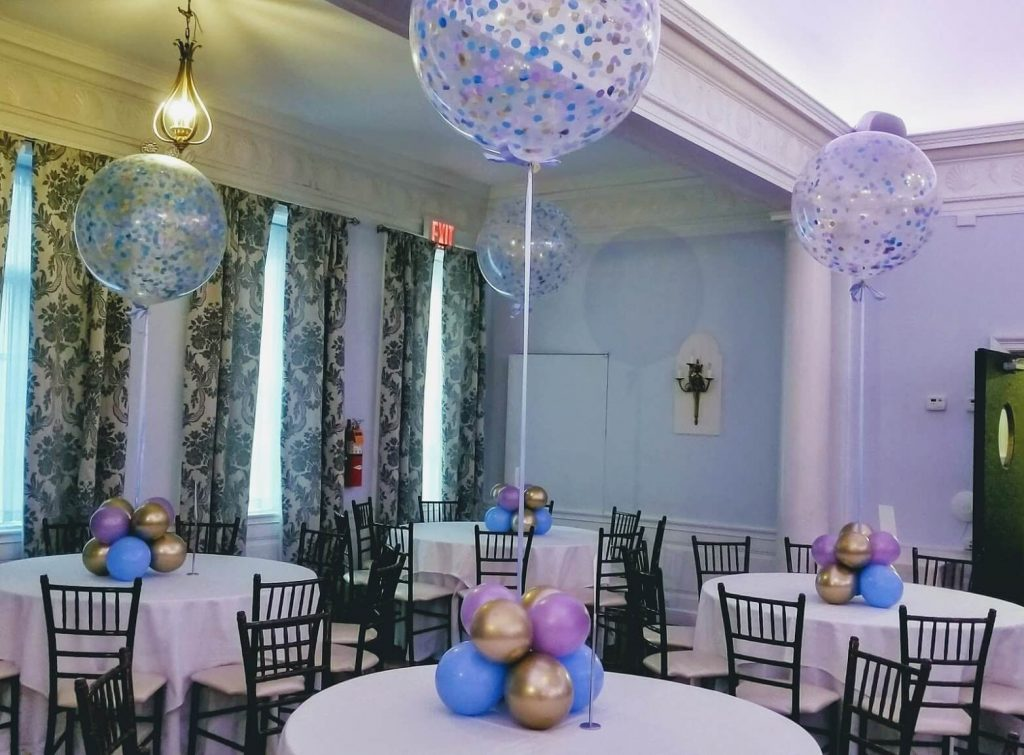 Confetti Chrome Glitter Balloons 24