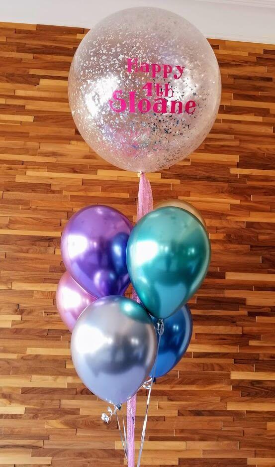Confetti Chrome Glitter Balloons 3