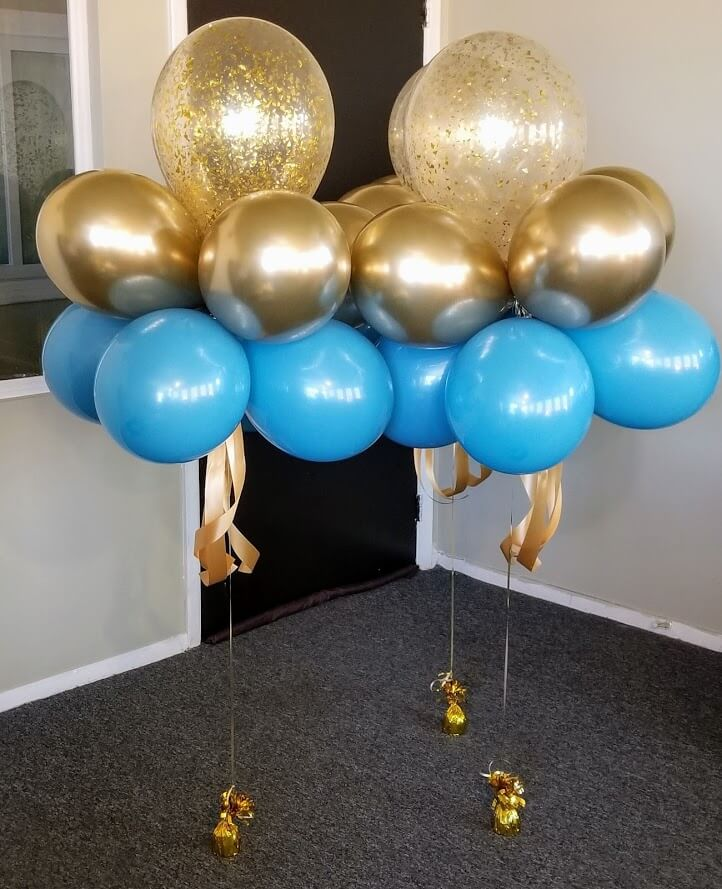 Confetti Chrome Glitter Balloons 26