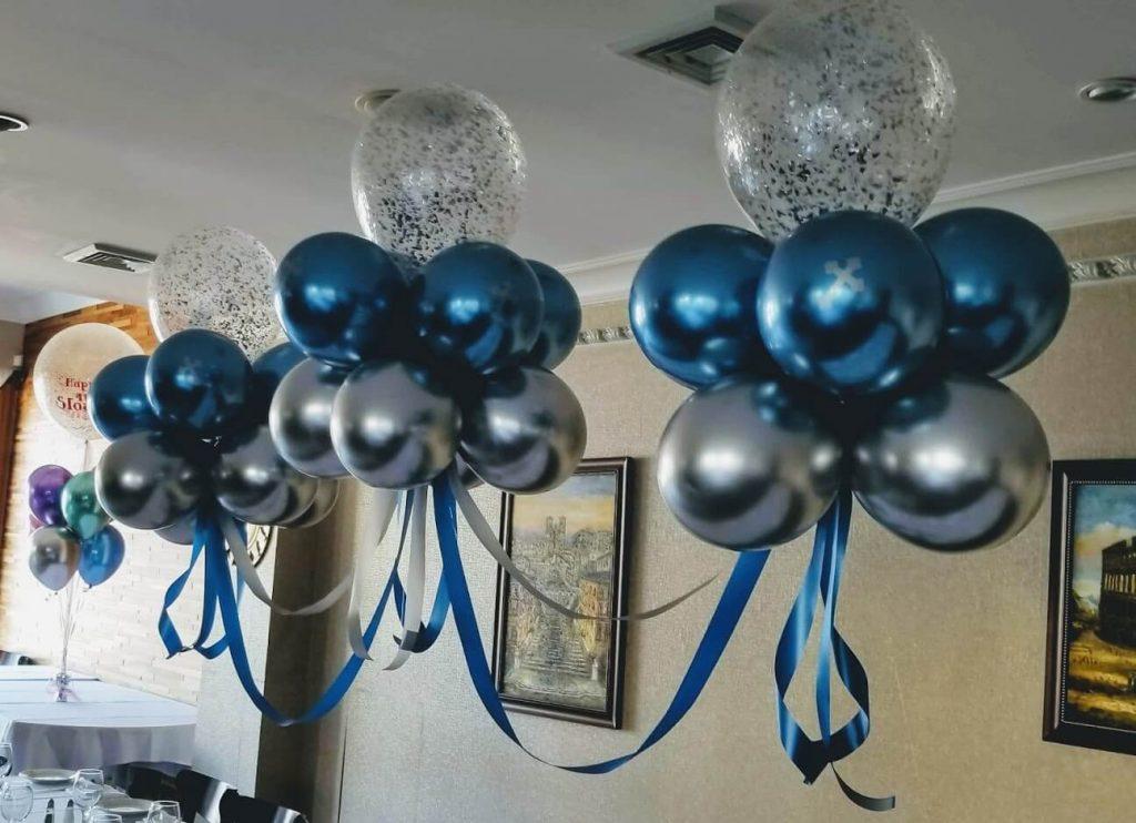 Confetti Chrome Glitter Balloons 27