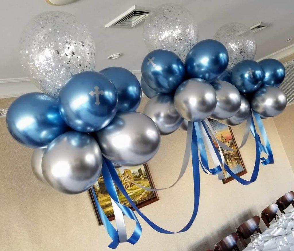 Confetti Chrome Glitter Balloons 4