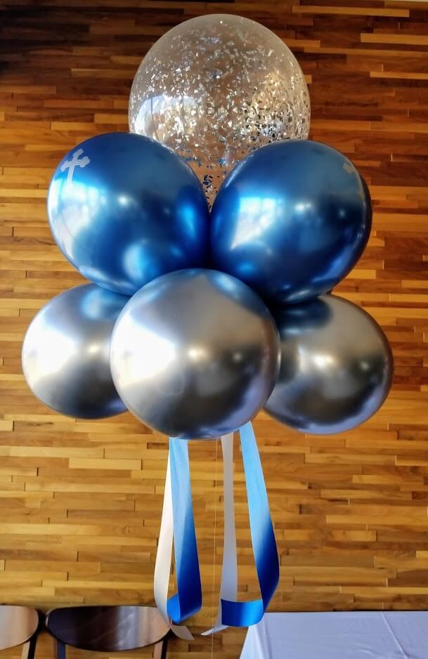 Confetti Chrome Glitter Balloons 5