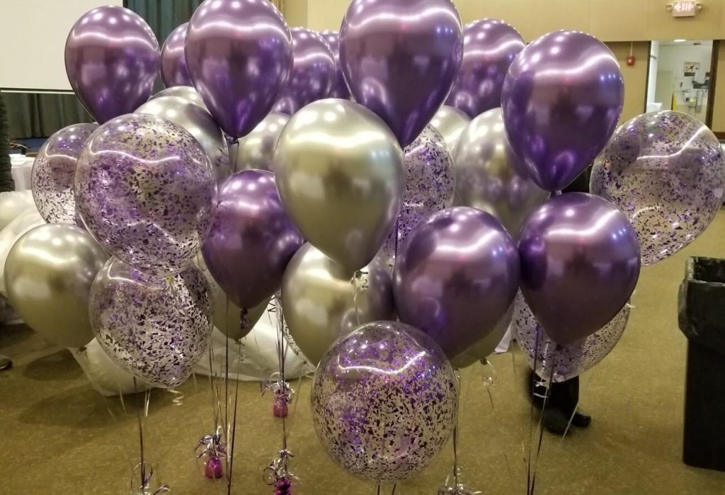Confetti Chrome Glitter Balloons 9