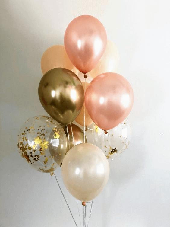 Confetti Chrome Glitter Balloons 32