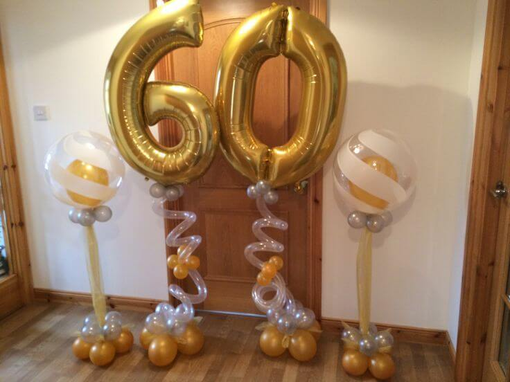 Gold Number Balloons 43