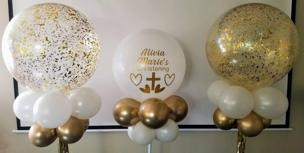 Confetti Chrome Glitter Balloons 12