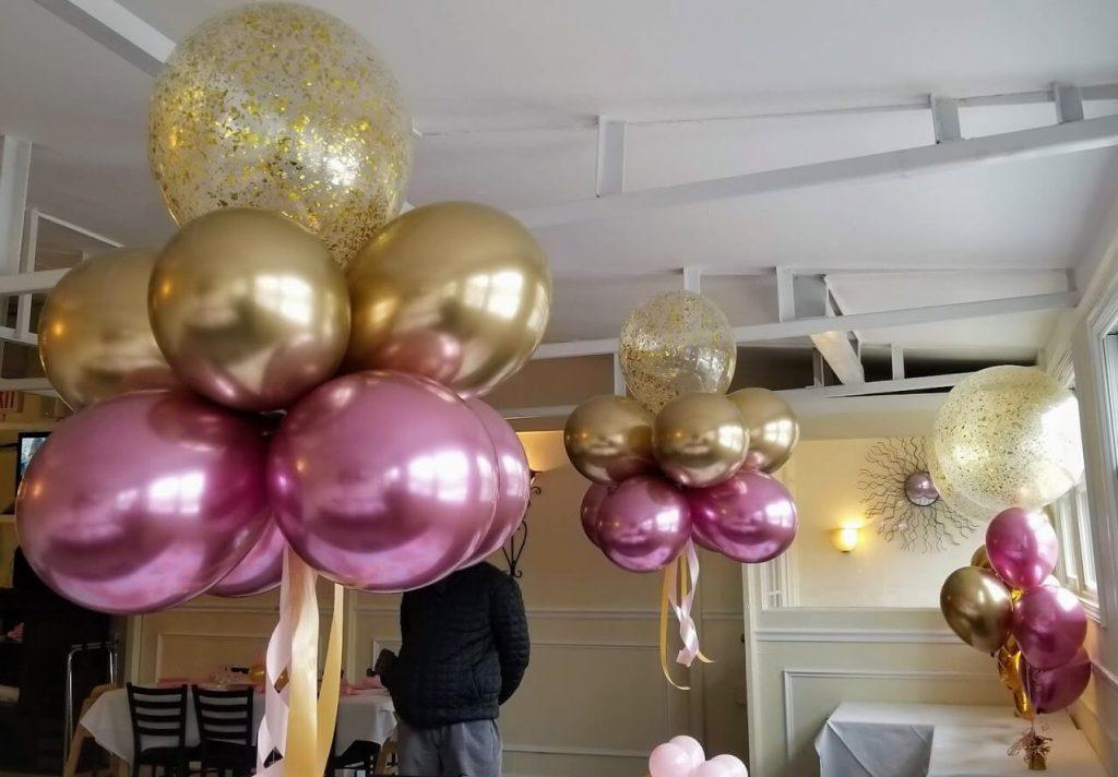 Confetti Chrome Glitter Balloons 35