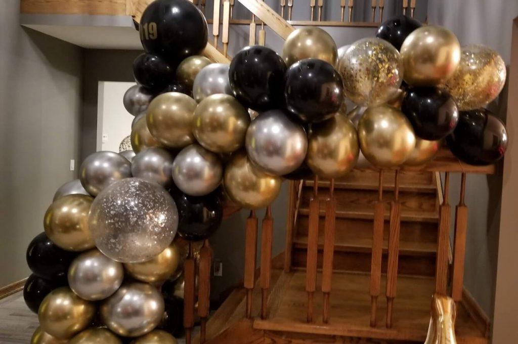 Confetti Chrome Glitter Balloons 15