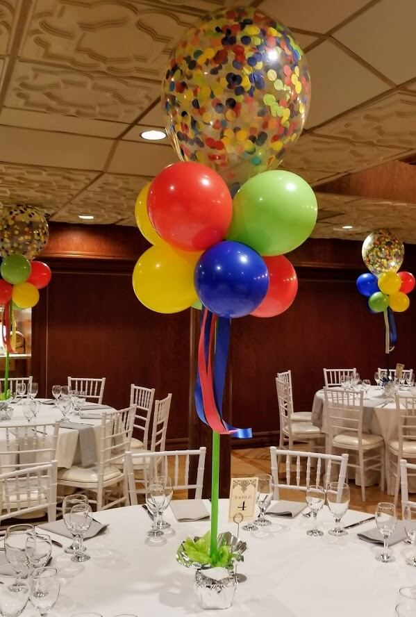Confetti Chrome Glitter Balloons 31