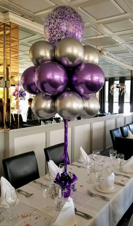 Confetti Chrome Glitter Balloons 11
