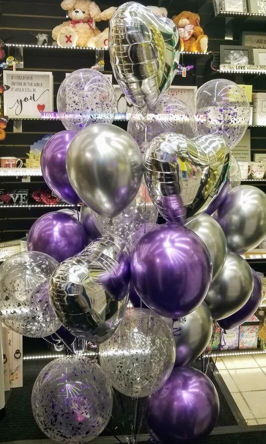 Confetti Chrome Glitter Balloons 20