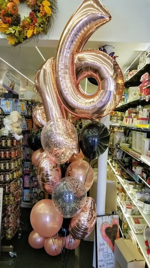 Gold Number Balloons 39