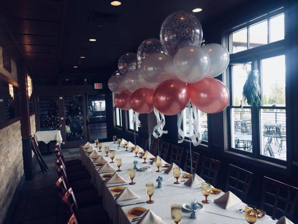 Confetti Chrome Glitter Balloons 42