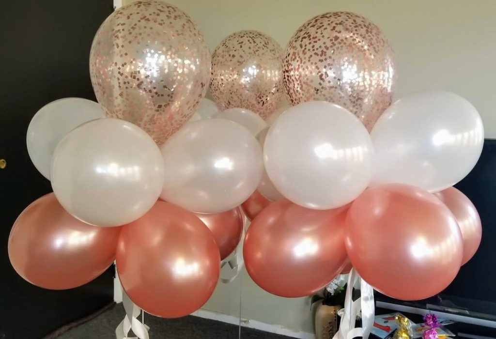 Confetti Chrome Glitter Balloons 41