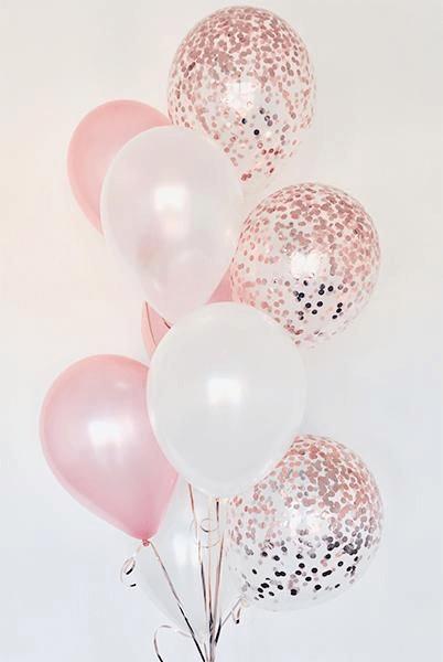 Confetti Chrome Glitter Balloons 19