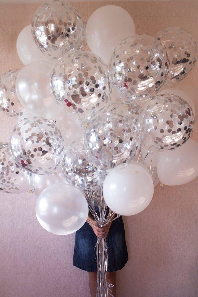 Confetti Chrome Glitter Balloons 39
