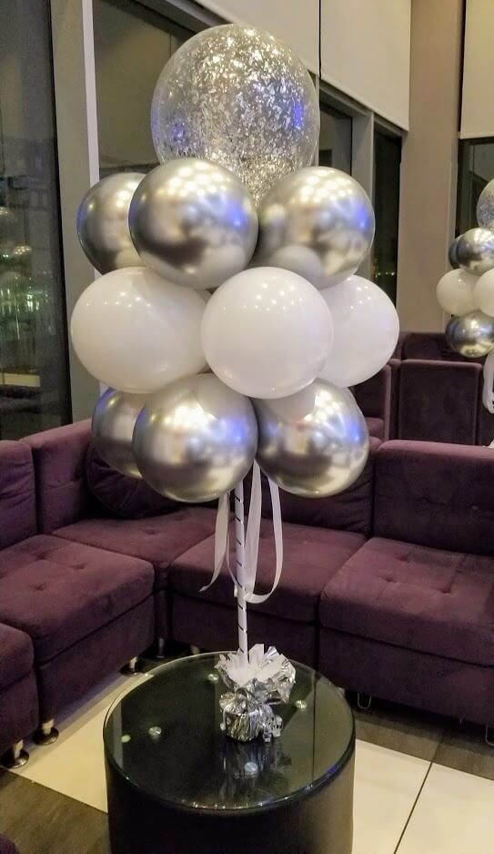 Confetti Chrome Glitter Balloons 18